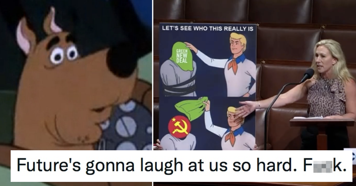 Marjorie Taylor Greene brought a Scooby Doo meme to Congress and there was no mystery what happened next