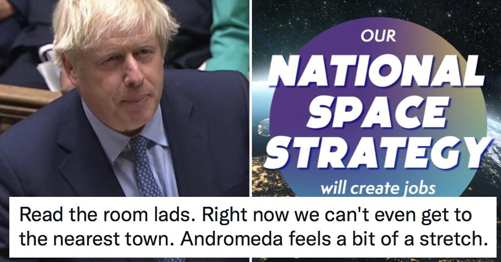 Boris Johnson wants to take 'Galactic Britain' into space and everyone made the same joke