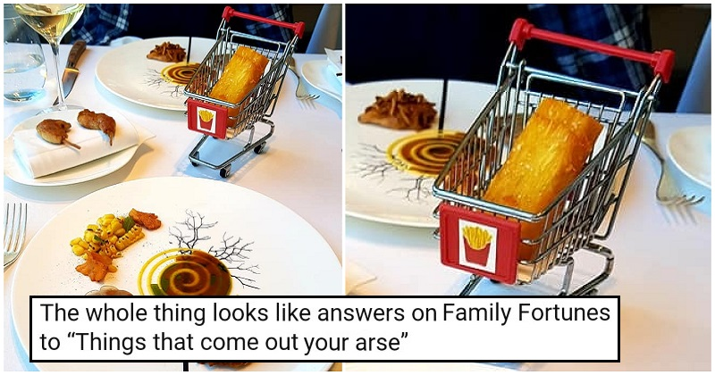 'A single chip, served in a shopping trolley' got the reactions it deserved
