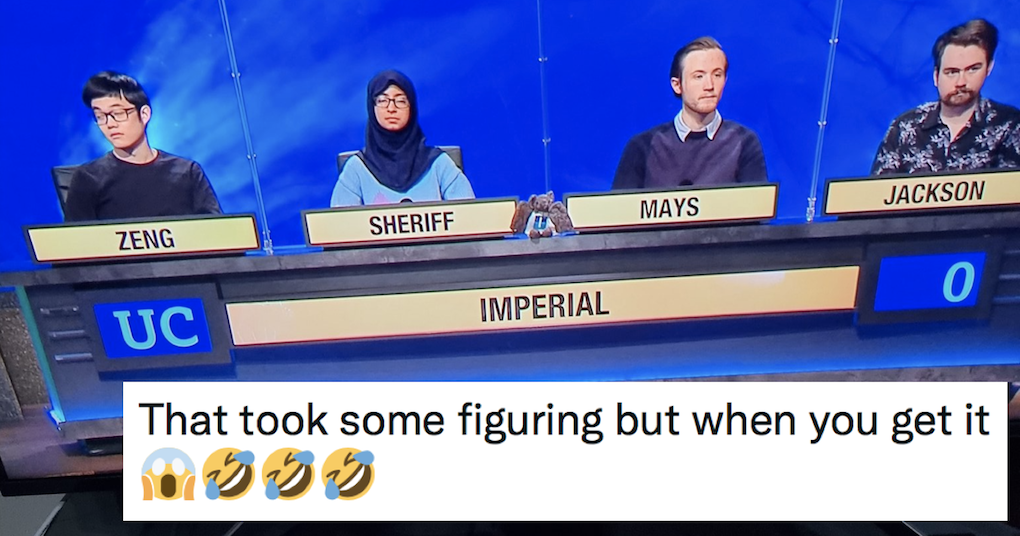 The unexpected payoff to this University Challenge line-up is next level stuff - the poke