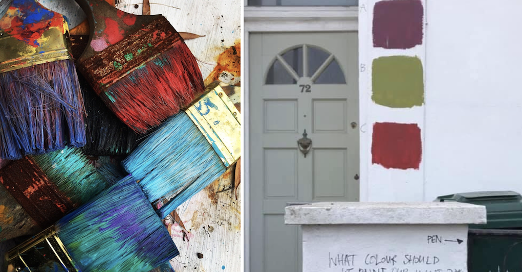 People love how these people are choosing which colour to paint their house