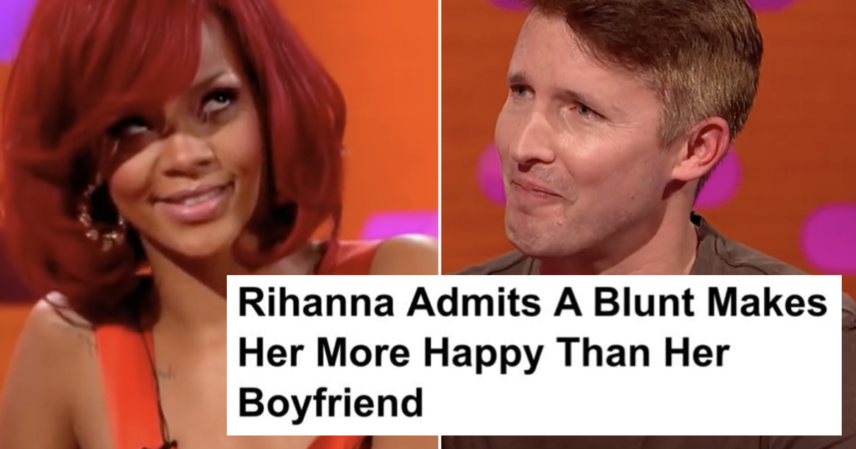 James Blunt spotted this open goal of a headline about Rihanna and he didn't disappoint - the poke