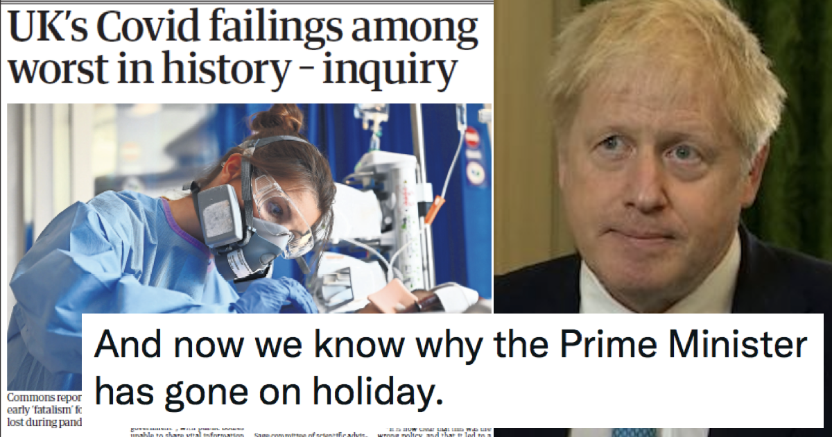 14 on-point responses to MPs' damning report into the government's Covid response