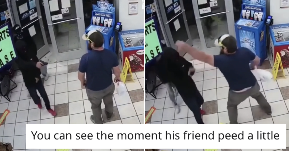 'Former Marine disarms armed robber' is the most breathtaking 7 seconds you'll watch today - the poke