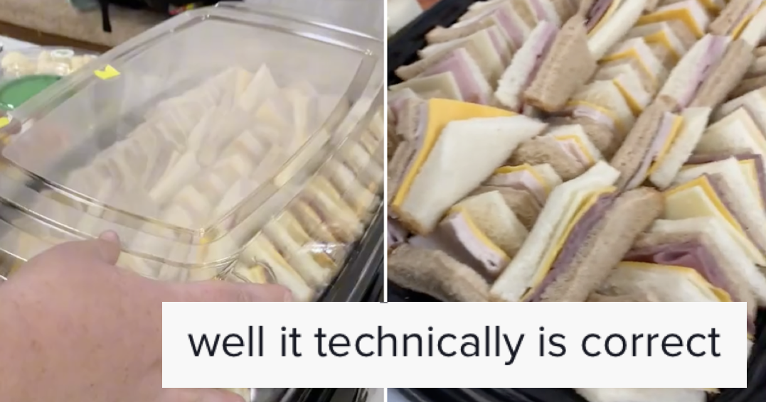 A supermarket took this 'half white, half brown' sandwich order literally and it made everyone's day better