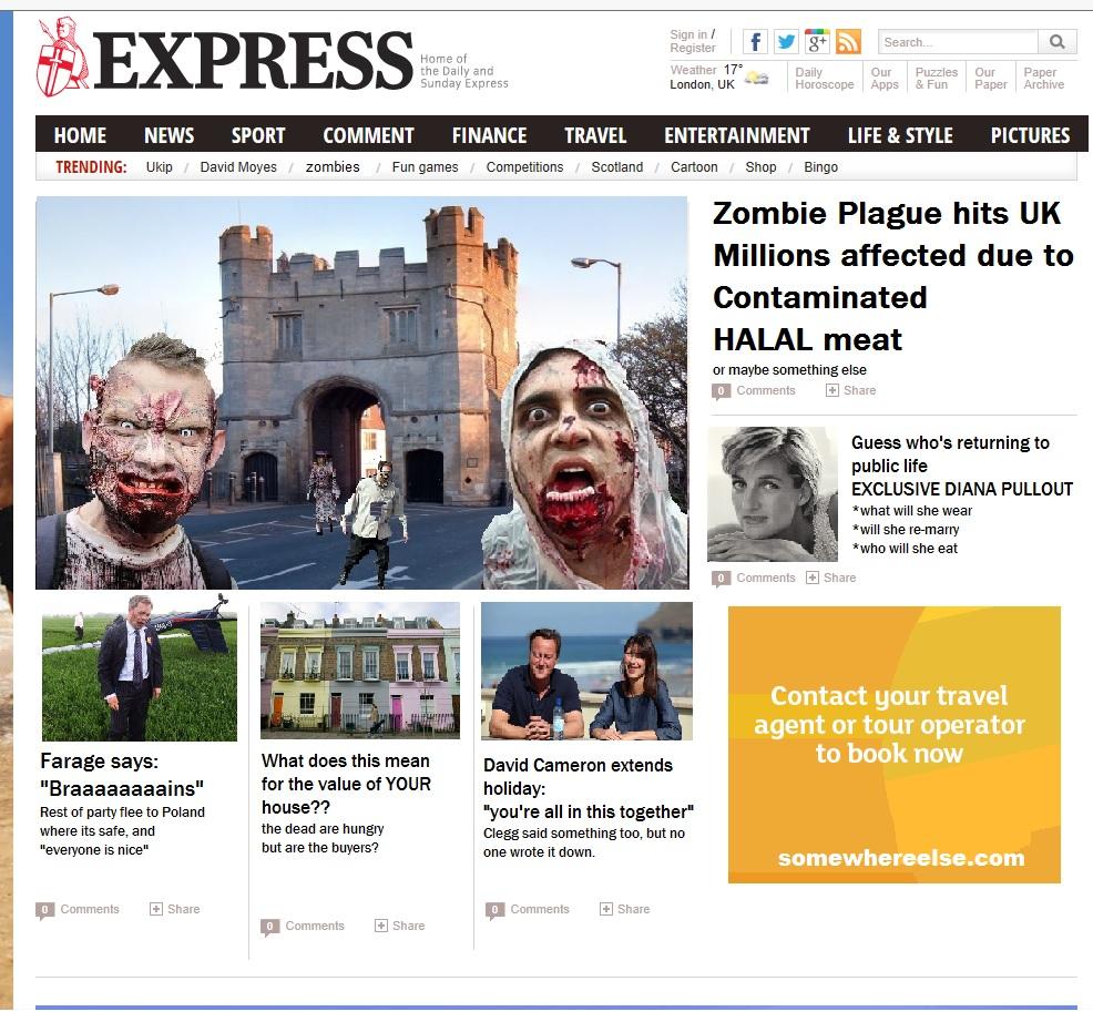 express zombie reaction the poke