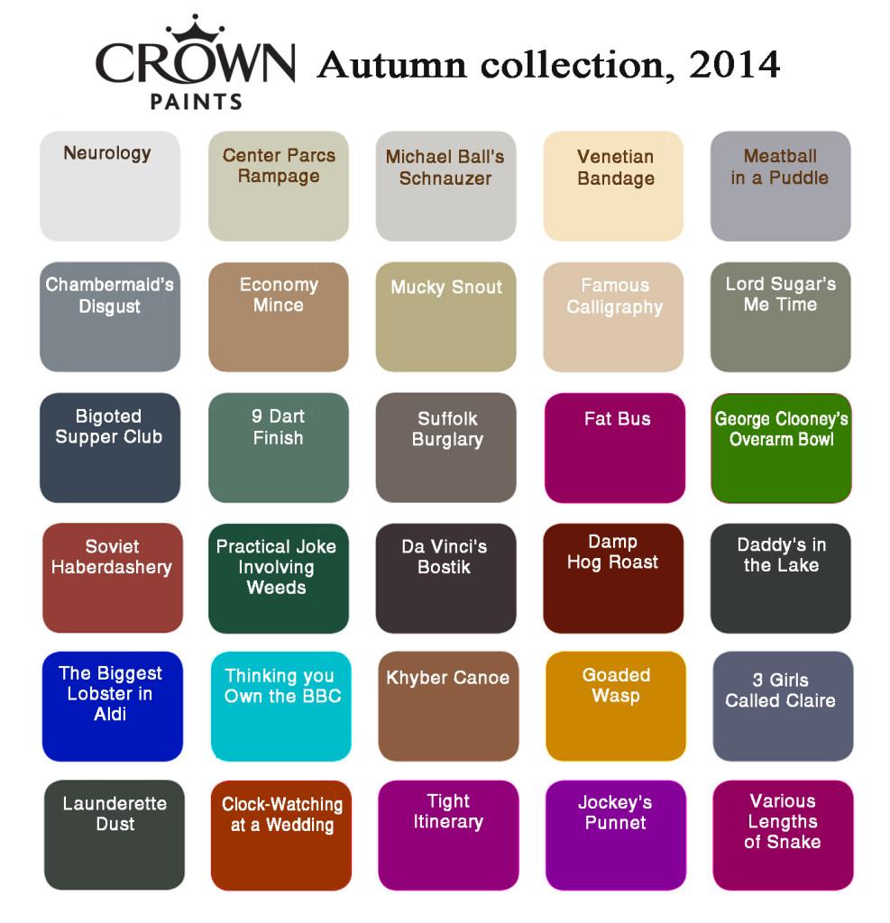 Crown Paints Colour Chart Related Keywords Crown Paints